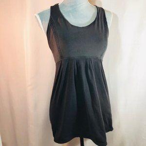 Lululemon Black Y-Strap Tank Mini Dress Top